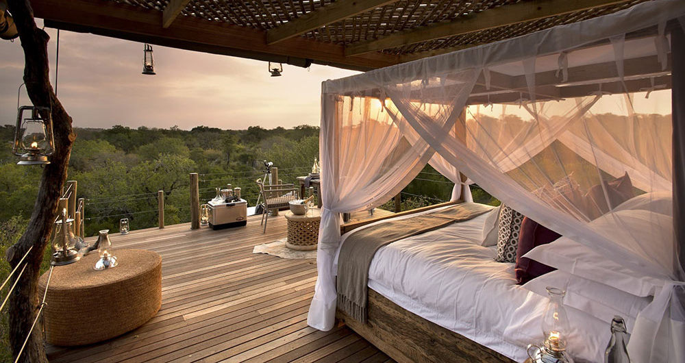 Treehouse tour star bed